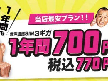 ★学割より安い!! 3GB 1年間 700円/月★